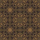 Rich decorated calligraphic outlined stroke seamless pattern in Stock Photos
