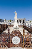 Rich decorated grave at the Roman Catholic Cementerio la Reina cemetery in Cienfuegos, Cuba Stock Photos