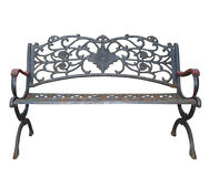 Rich Decorated Iron Park Bench Royalty Free Stock Photos