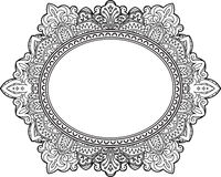 Rich decorated oval frame pattern. Vector decorative background Royalty Free Stock Image