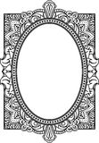 Rich decorated oval frame pattern. Vector decorative background Stock Image