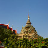 Rich decorated temple in Bangkok, Thailand Stock Image