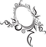 Rich decorated vintage oval frame with blank space for text. May Stock Image