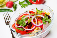 Rich and delicious salad Royalty Free Stock Photography