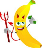 Rich devil banana Stock Image