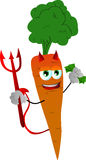 Rich devil carrot Stock Photo
