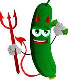 Rich devil cucumber or pickle Stock Photography