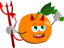 Rich devil orange Royalty Free Stock Images
