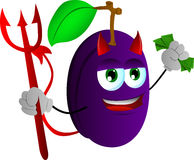 Rich devil plum Stock Photos