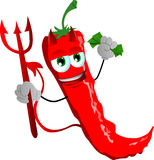 Rich devil red hot chili pepper Stock Photography