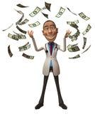 Rich doctor. Full of money stock illustration