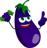 Rich eggplant with attitude Stock Images