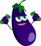 Rich eggplant Stock Photography