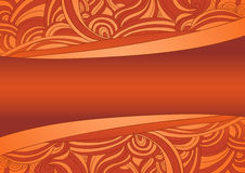 Warm coloured waves theme (place for your text) Stock Photography