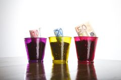 Rich euro book Stock Photo