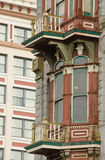 Rich exterior of a Victorian building in Gaslamp quarter Stock Image