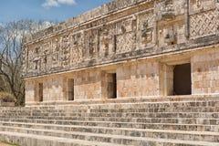 Uxmal mayan ruins Mexico Stock Image