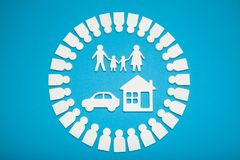Rich family concept, money agreement royalty free stock image