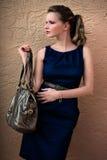 Woman Handbag. Woman with expensive handbag royalty free stock photography