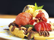 Rich filled waffle Royalty Free Stock Image
