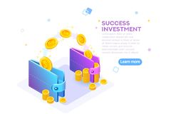 Rich finance capital concept capital wealth. Rich finance to earning currency, capital concept. Wealth and income for a success economy accounting. Money wallet royalty free illustration