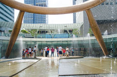 Rich fountain in Singapore. Singapore ,April 3 -2016 unidentified of tourist visit rich fountain at Suntec famous place for travel in   Singapore  April,  , 2016 Stock Images