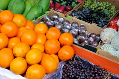 Rich fruit. Various fresh fruit for maketing sales, shown as raw and fresh fruit, and healthy life style Stock Photography