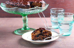 Rich fruit cake Royalty Free Stock Images