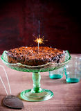 Rich fruit cake with flare light Royalty Free Stock Photos