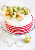 Rich fruit Christmas cake Royalty Free Stock Photos