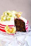 Rich fruit Christmas cake Royalty Free Stock Image