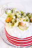 Rich fruit Christmas cake Royalty Free Stock Photography