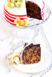 Rich fruit Christmas cake Royalty Free Stock Images
