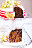 Rich fruit Christmas cake Royalty Free Stock Photo