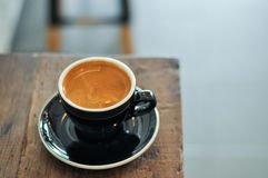 Rich full bodied Americano with beautiful crema in a cup Royalty Free Stock Images