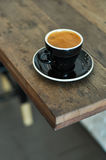 Rich full bodied Americano with beautiful crema in a cup Royalty Free Stock Photos
