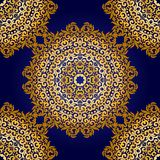 Rich gold seamless pattern in the Indian style Royalty Free Stock Photography