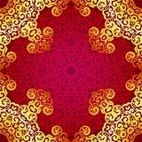 Rich gold seamless pattern in the Indian style. Stock Image