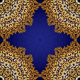 Rich gold seamless pattern in the Indian style. Royalty Free Stock Image