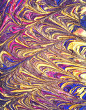 Rich golden abstract design Stock Photos