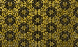 Rich golden black floral pattern. royal luxury pattern for creative designs. Rich golden black floral rough textured background. Golden floral pattern with gold Royalty Free Stock Images