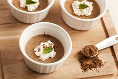 Rich Gourmet Homemade Chocolate Mousse Dessert Stock Image