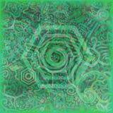 Rich Green Blue Texture Hexagonal ramtapet Arkivfoto