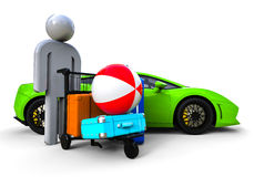 Rich guy problem Royalty Free Stock Image