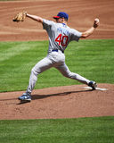 Rich Harden pitching Royalty Free Stock Photo