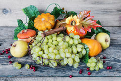 Rich harvest of various fruits and vegetables Royalty Free Stock Photo