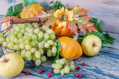 Rich harvest of various fruits and vegetables Royalty Free Stock Photography