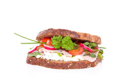 A rich healthy brown sandwich Royalty Free Stock Photos