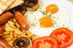 Rich and healthy english breakfast Royalty Free Stock Photo