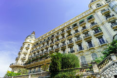 Rich hotel building in Nice, Cote-d-Azur Royalty Free Stock Photo